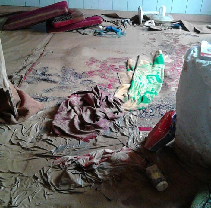 سیلاب در خانه یک شهروند در کاشان