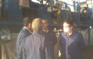 بازدیده رئیس دانشگاه کاشان از مرکز بازیافت زباله کاشان